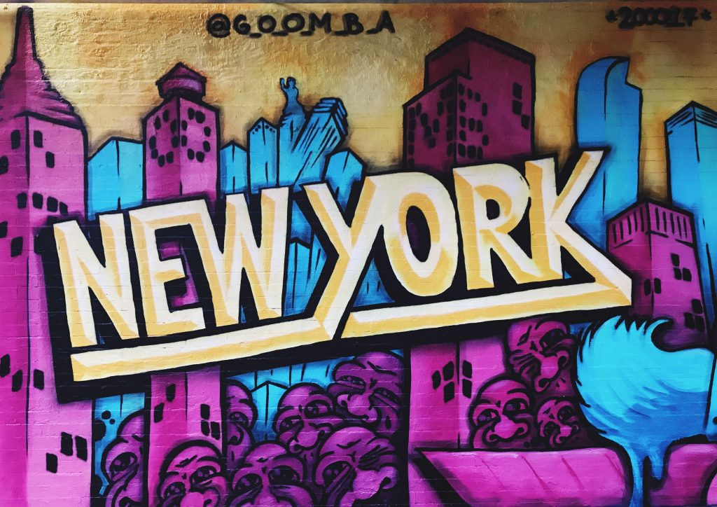 Bild på grafitti i NYC